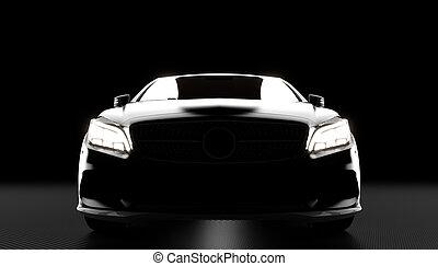 自動車, 贅沢, 背景, 炭素