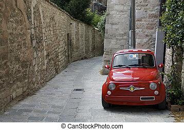 自動車, 赤, イタリア語