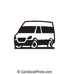 自動車, 車, ベクトル, トラック, バス, アイコン