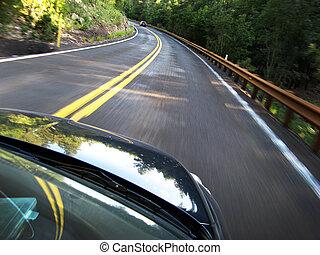 自動車, 速く運転