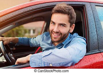 自動車, 運転, 人