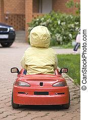 自動車, 運転, 子供