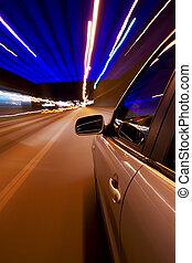 自動車, 運転, 速い
