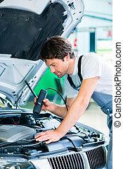 自動車, 道具, ワークショップ, 機械工, 診断