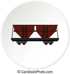 自動車, 鉄道, 円, 貨物, アイコン