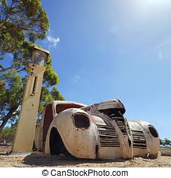 自動車, 錆ついた, 古い, アメリカ人