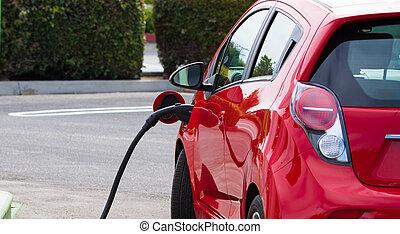 自動車, 電気である, 充満