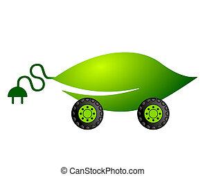 自動車, 電気である, 動力を与えられる