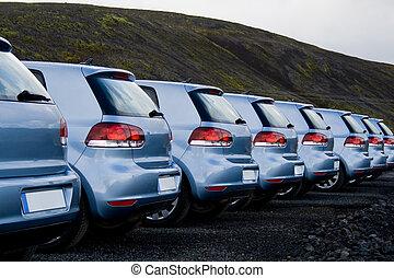 自動車, 駐車される, 続けて