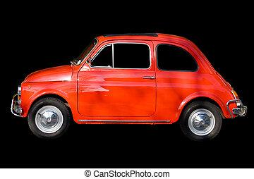 自動車, 黒い赤, に対して, 背景