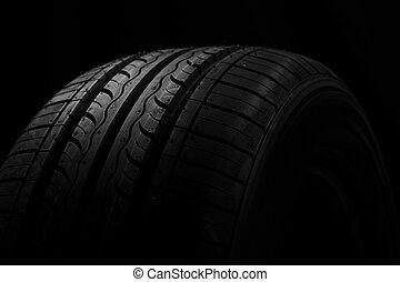 自動車, 黒, タイヤ, 背景