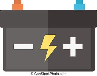 自動車, 12v., 部分, 隔離された, 力, 電気である, accumulator, 電池, 自動車, 供給