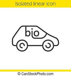 自動車, bio, アイコン, 線である