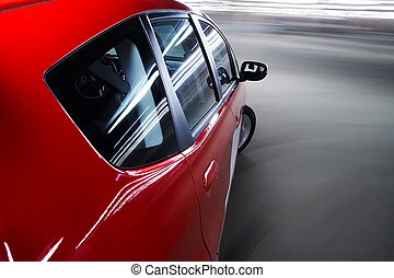 自動車, drivnig, 速い