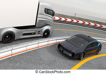 自動車, ev, ハイブリッド, トラック, ハイウェー