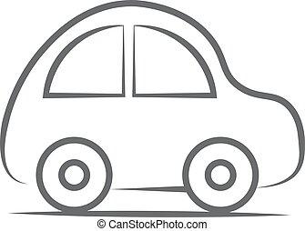自動車, icon., ベクトル, イラスト