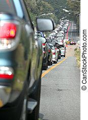自動車, jam., 交通