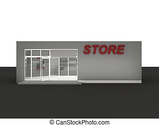 自動車, minimarket, -, 店, イラスト