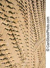 自動車, sand., 背景, 印, 輸送, 概念, 車輪
