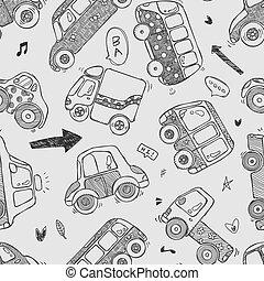 自動車, seamless, パターン