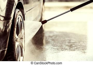 自動車, wash.