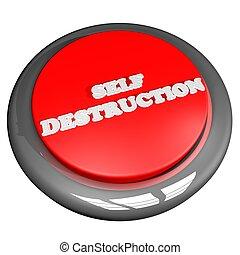 自己, ボタン, 破壊