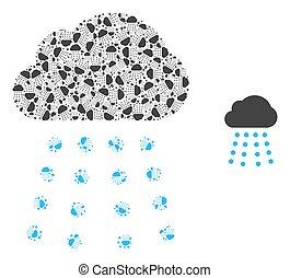 自己, 雨, 構成, 項目, 雲, recursion