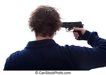 自殺, 銃
