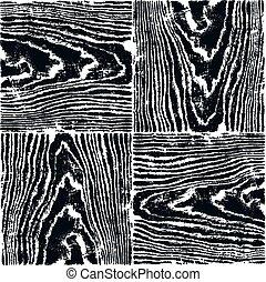 自然のパターン, 手ざわり, 木, 黒い背景