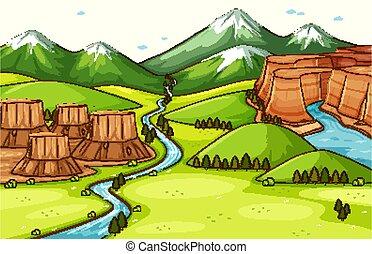 自然場面, 背景, 別, 地形, 部分