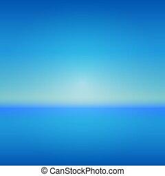自然, イラスト, 海洋水, 海, 波