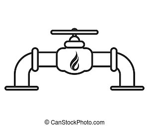 自然, パイプライン, ガス, アイコン