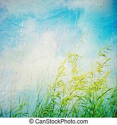自然, ペーパー, 背景, 抽象的, グランジ, texture.