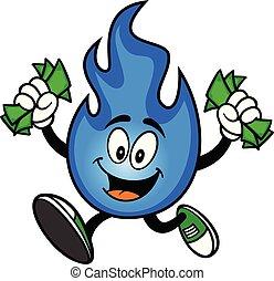 自然, 動くこと, ガス, お金