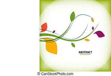 自然, 型, 抽象的, 緑の背景, 花