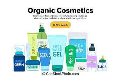 自然, 多数, 皮膚, cosmetics., ∥あるいは∥, names., care., 着陸, ページ, ジャー, 有機体である, びん, オンラインで, store., 美顔術, 化粧品