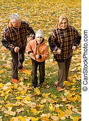 自然, 子供, 祖父母