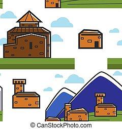 自然, 山, 建築, 建物, れんが, アルメニア人