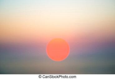 自然, 抽象的, 空, sun., 背景, 日没, 光景
