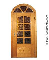 自然, 木製である, 隔離された, ガラス, 閉じられた戸