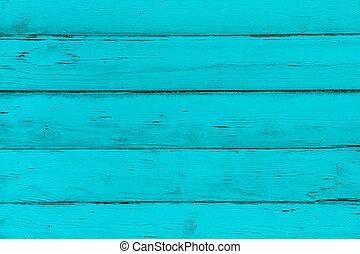 自然, 木製である, 青, トルコ石, 板, 壁, ∥あるいは∥, フェンス, ∥で∥, knots., 抽象的,...