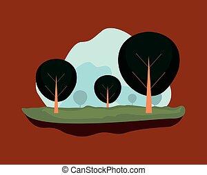 自然, 空, 木, 風景, 自然