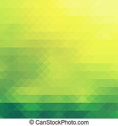 自然, 綠色, 主題, 在, 鑽石, pattern., 背景