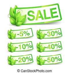 自然, 緑, セール, タグ