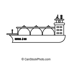 自然, 船, ガス, アイコン