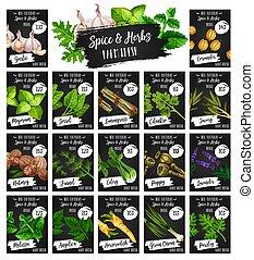 自然, 農場, 価格, ハーブ, 調味料, スパイス, 市場
