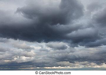 自然, backgrounds:, 空, 嵐である