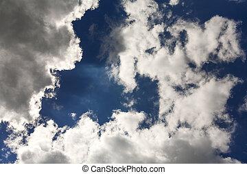 自然, cloudscape, 空の雲, 天国