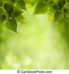 自然, eco, beauty., 抽象的, 背景, デザイン, あなたの
