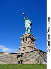 自由女神像, 在上, 柱脚